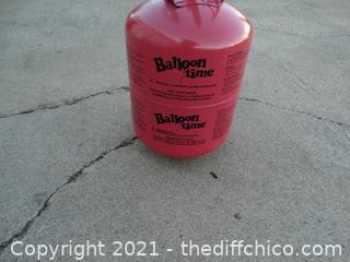 Pink Balloon Time Helium Tank