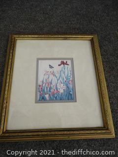 """Signed Framed Art 12.5"""" X 12"""""""