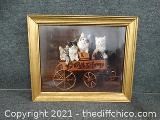 "4 Cats Picture 23 1/2""x 19 1/2"""