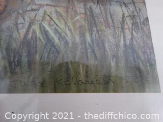 """Signed Framed Art 23"""" x 18 3/4"""""""