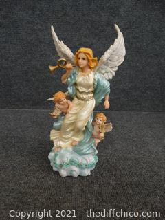 Angel Statue  Musical (Hark The Herald Angels Sing)