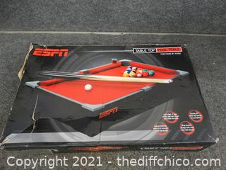 ESPN Table Top Pool Table