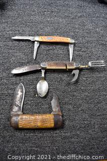 3 Folding Knives