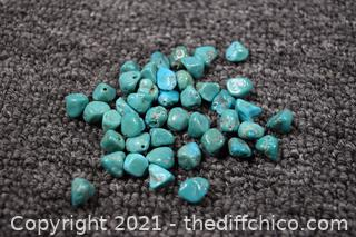 Drilled Turquoise Bead's