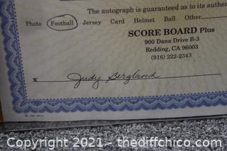 Autograph Signed Football by 49er Derek Loville