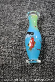 Oriental Painted on the inside Vase w/box