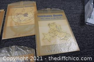 Collectible Vintage Luminous Nursery Rhyme Decals