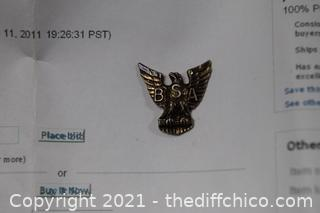 Vintage BSA Medal Eagle Scout Sterling Silver Pin