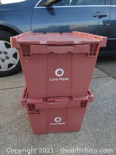 2 Flip Top Pink Crates