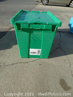 1 Green Flip Top Tote