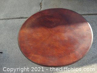 "Oval Wood Table 27"" x 22"" x 20 1/2"""