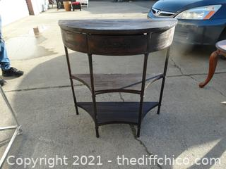 "Wood Entry Way Table 31"" x 29 1/2"" x 13"""