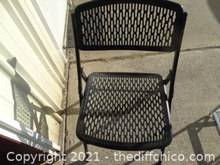 Black Fold Up Chair