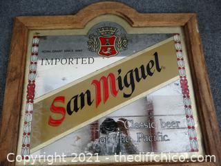"San Miguel Beer Sign 21 1/2"" x 23 3/4"""