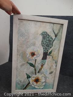 "Bird Painting On Canvas 24"" x 15"""