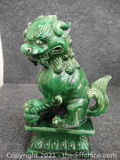 Green Lion Statue see pics