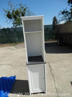 "White Shelf Cabinet 61"" X 15' X 15 1/2"""