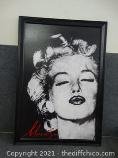 """Marilyn Monroe Picture 39 1/2"""" x 27 1/2"""""""