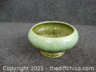 Green Glass Pot Decor