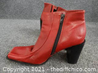 Hillard & Hanson Red Heeled Shoes Made In Brazil 914