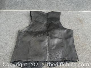 Leather Vest 38 Made In Pakistan