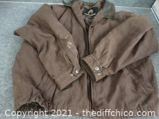 Brown  Weather Proof Coat  xl made In Vietnam
