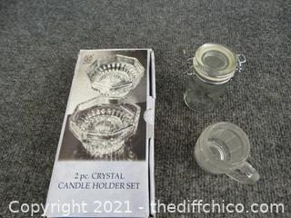 Crystal Candle Holders & More