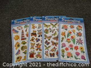 New Sparkling Stickers 4pkgs