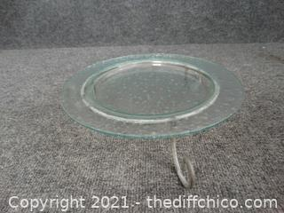 Serving Plate With Stand