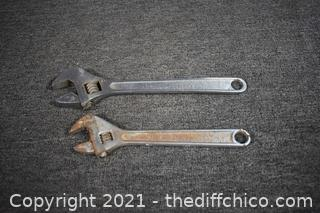 2 Large Wrenches