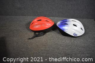 2 Bike Helmets