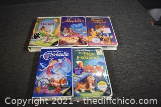 4 Walt Disney VHS Movies