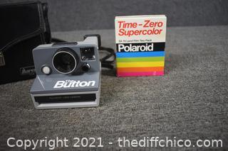 Polaroid The Button Camera, Film and Case