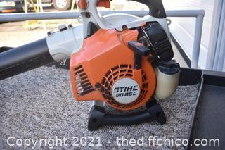 Working Stihl BG85C Blower