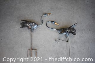 2 Bird Yard Art