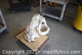 Cement Dog Yard Art
