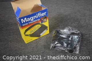 NIB Magnifier w/head strap