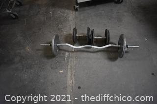 Bar Bell Weights - total 80lbs