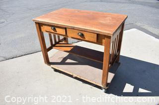 Mission Style Desk w/2 drawers