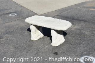 3 Piece Cement Bench
