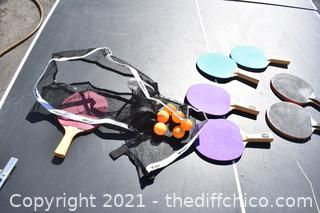 Ping Pong Table plus Accessories 'as is'