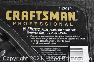 NIB Craftsman Flare Nut Wrenches