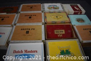 14 Vintage Cigar Boxes