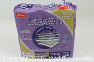 Hartz Home Protection Odor Eliminating Scented Dog Pads, Super Absorbent & Won't Leak, Lavender Scent