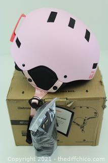Retrospec Traverse H1 Ski & Snowboard Helmet, Convertible to Bike/Skate, Matte Pink, Medium (55-59cm)