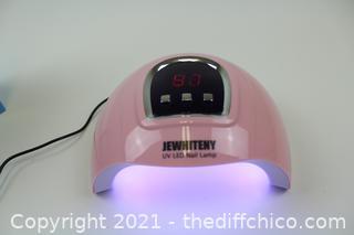 UV LED Nail Lamp,18pcs LEDs Nail Dryer Gel Polish Light with Auto Sensor LCD Display,USB Charger LED Curing Lamp for Nail Polish Cure