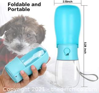 Dog Water Bottle - Foldable Dog Water Dispenser for Walking with Dog Waste Bag, Portable Pet Water Bottle for Travel, BPA Free Water Bottle for Cat, Rabbit,Puppy and Other Animals(10 Oz)