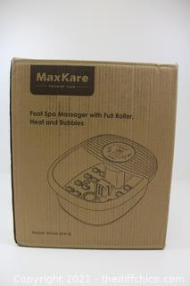 MaxKare Foot Bath, Foot Spa Massagers with Heat & Bubble & Vibration, Temperature Control, Foot Pedicure Tub with16 Masssage Rollers