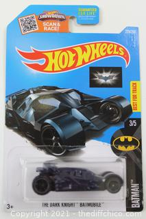 Hot Wheels 2016 The Dark Knight Batmobile *228/250 HW Batman *3/5 DHX78 Blue