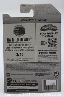 2016 Hotwheels Red Corvette Stingray HW Mild to Wild Series 3/10 Card # 58/250